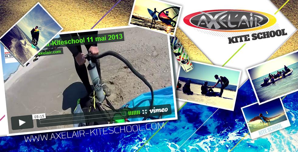 Axel'Air, première école de kitesurf au monde, présente au Festikite 2016